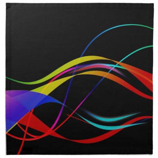 Ondas acústicas coloridas servilleta imprimida