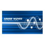 Ondas acústicas - textura cepillada azul tarjetas personales