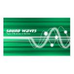 Ondas acústicas - textura cepillada verde tarjetas personales