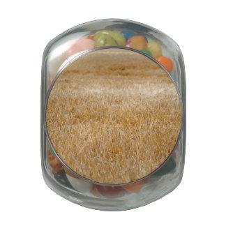 Ondas ambarinas del grano jarras de cristal
