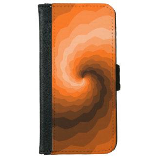 Ondas anaranjadas funda cartera para iPhone 6