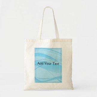 Ondas azules bolsa tela barata