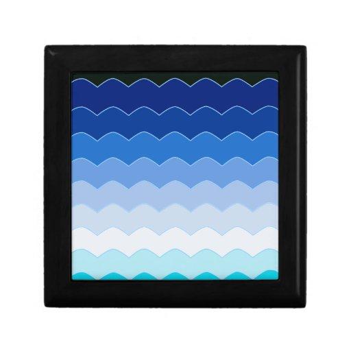 Ondas azules caja de recuerdo