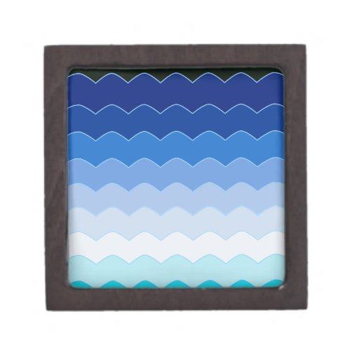 Ondas azules cajas de recuerdo de calidad