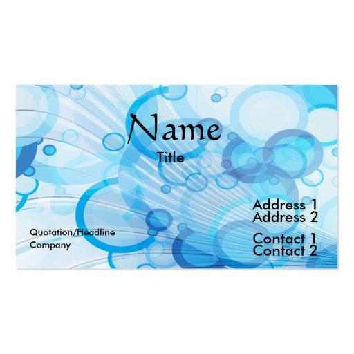 ondas azules de la burbuja tarjetas de visita