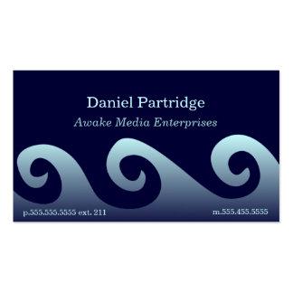 Ondas azules de la pendiente plantillas de tarjetas personales