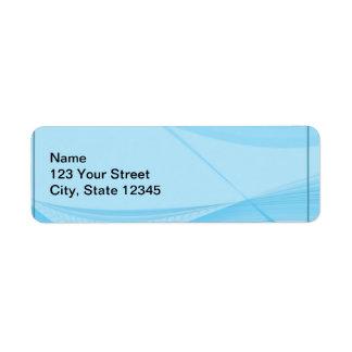 Ondas azules etiqueta de remite