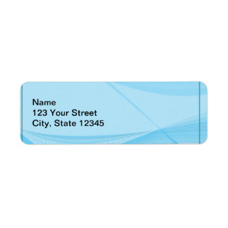 Ondas azules etiqueta de remitente