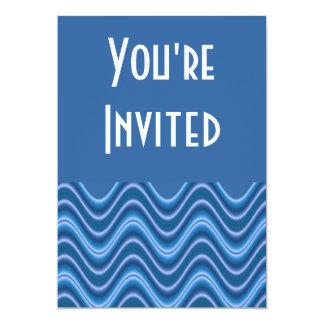 """ondas azules invitación 5"""" x 7"""""""