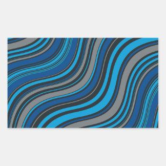 Ondas azules rectangular altavoces