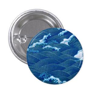 Ondas azules pin redondo 2,5 cm