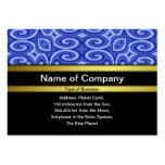 Ondas azules plantilla de tarjeta de negocio