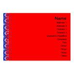 Ondas azules plantilla de tarjeta de visita