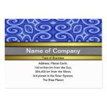 Ondas azules plantilla de tarjeta personal