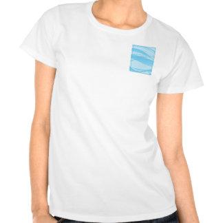 Ondas azules camisetas