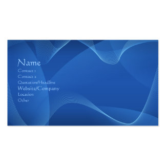 Ondas azules tarjetas de visita