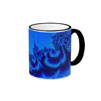 Ondas azules taza de dos colores