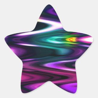 Ondas brillantes del color calcomanias forma de estrella