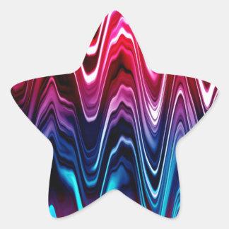 Ondas brillantes del color colcomanias forma de estrellaes