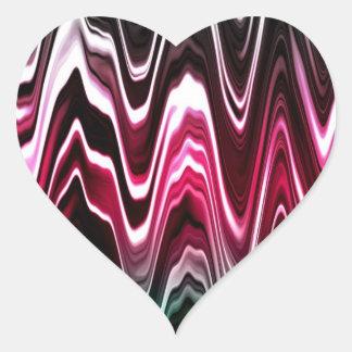 Ondas brillantes del color calcomania de corazon personalizadas