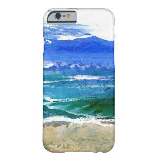 Ondas brillantes del mar de los regalos de la funda de iPhone 6 barely there