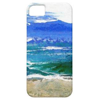 Ondas brillantes del mar de los regalos de la resa iPhone 5 Case-Mate cárcasa