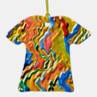Ondas canadienses del ORO Adorno De Cerámica En Forma De Camiseta