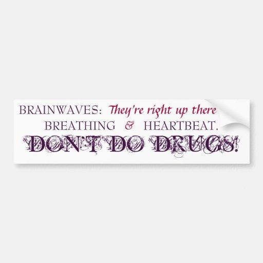 Ondas cerebrales - pegatina para el parachoques -  pegatina de parachoque