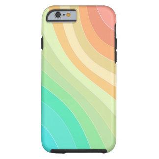 Ondas coloreadas arco iris funda para iPhone 6 tough