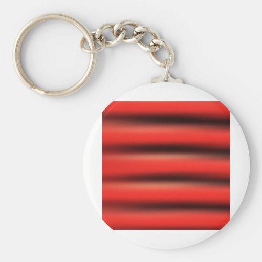 Ondas, colores rojos, moda del estilo de las forma llavero redondo tipo pin