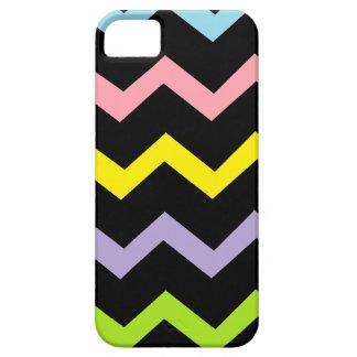Ondas coloridas del triángulo iPhone 5 protector