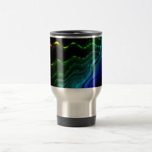Ondas coloridas tazas de café
