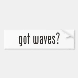 ¿ondas conseguidas? pegatina para auto