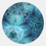 Ondas cósmicas pegatina redonda