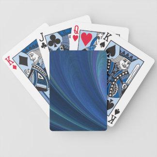 Ondas de arena suaves azules y verdes baraja de cartas