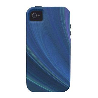 Ondas de arena suaves azules y verdes iPhone 4 carcasas