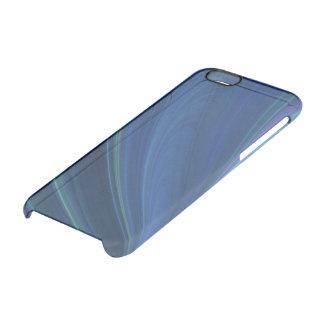 Ondas de arena suaves azules y verdes funda clearly™ deflector para iPhone 6 de uncommon
