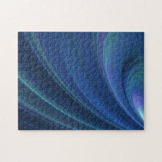 Ondas de arena suaves azules y verdes rompecabezas con fotos