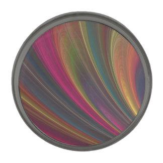 Ondas de arena suaves coloridas insignia metalizada