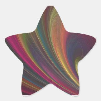 Ondas de arena suaves coloridas colcomanias forma de estrellaes personalizadas