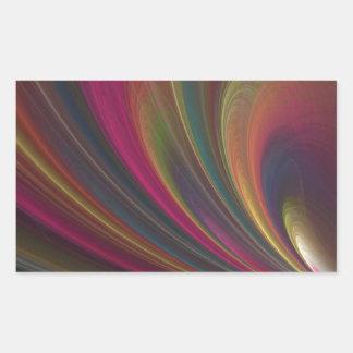 Ondas de arena suaves coloridas rectangular pegatina