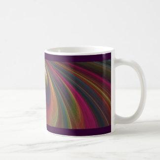 Ondas de arena suaves coloridas taza