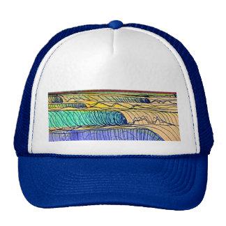 ondas de balanceo gorras