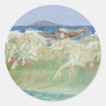 ONDAS DE HORSES RIDE THE DE REY NEPTUNO PEGATINAS