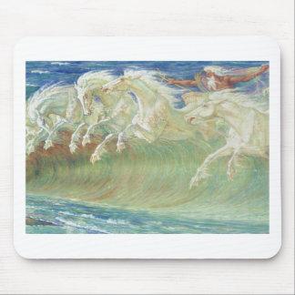 ONDAS DE HORSES RIDE THE DE REY NEPTUNO ALFOMBRILLAS DE RATONES