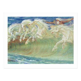 ONDAS DE HORSES RIDE THE DE REY NEPTUNO POSTAL