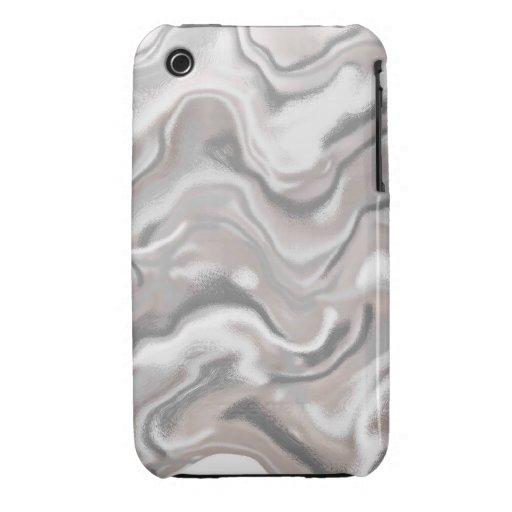 Ondas de la caja gris Case-Mate iPhone 3 fundas