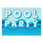 ondas de la fiesta en la piscina impresiones