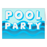 ondas de la fiesta en la piscina tarjetón