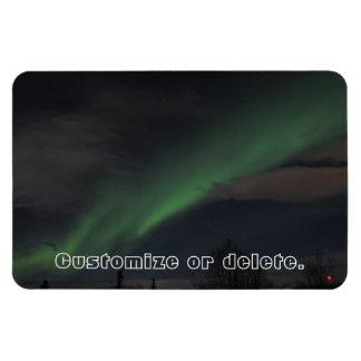 Ondas de la luz verde; Personalizable Imán De Vinilo